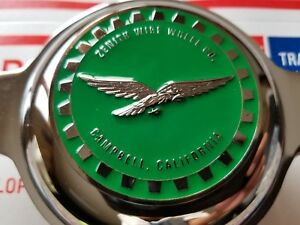 Zenith Campbell Califonia Wire Wheel 2 5 Metal Chip Emblems Green crhome