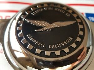 Zenith Campbell Califonia Wire Wheel 2 5 Metal Chip Emblems Black crhome