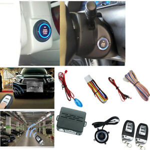 Car Suv Alarm System Security Push Button Remote Engine Start Kit Universal