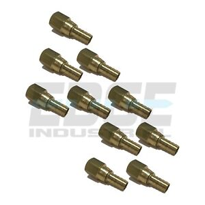 10 Pack 1 2 Swivel Hose Barb X 1 2 Female Npt Brass Pipe Fitting Npt Fuel Wog