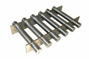 Industrial 12 X 8 Magnetic Hopper Grate With Rare Earth Magnets