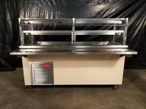 Colorpoint 6 Refrigerated Salad Bar W Glass Sneeze Guard