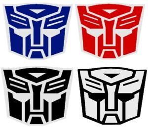 Sticker Vinyl Decal 3m Red Blue Reflective Transformers Autobots Symbol Logo