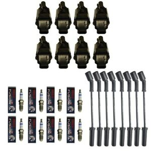 New Ignition Coil Pack 8 Oem Coils 8 Bosch Spark Plugs 8 Herlux Wires