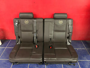11 12 13 14 Cadillac Escalade Platinum Oem 3rd Row Seats Brown Leather