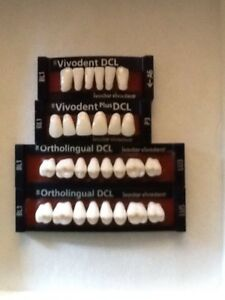 Ivoclar Vivadent Ortholingual Dcl 4 Cards Of Bl1 Teeth For Dental Lab Materials