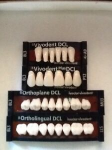 Ivoclar Vivadent Ortholingual Dcl 4 Cards Of Bl3 Teeth For Dental Lab Materials