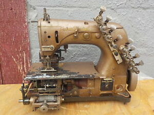 Industrial Sewing Machine Union Special 54 400 J with Rear Puller Brown