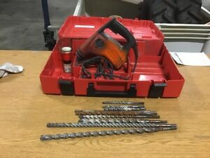 Hilti Te 7 c Triple mode Corded Sds Rotary Hammer Drill chisel With 9 Bits