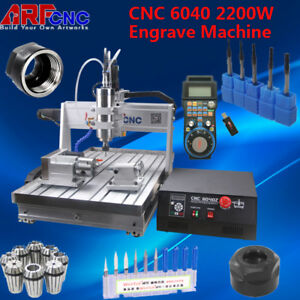2200w Cnc Router Engraver Engraving Cutting Milling Machine 6040 Wood Pvc Board
