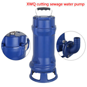 Industrial Sewage Cutter Grinder Cast Iron Submersible Sump Pump 1 1kw 110v Top