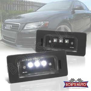 For A4 S4 A5 S5 Tt Q5 Quattro Error Free 2pc Cree Led License Plate Light Lamp