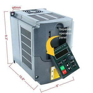 2 2kw 220v 3hp Single Phase To 3phase Variable Frequency Drive Converter New