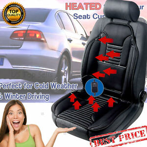Zone Tech Heated Car Seat Cushion Chair 12v Heating Warmer Pad Hot Cover New Hq
