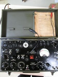 Vintage Signal Corps I 177 Tube Tester