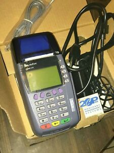 Verifone Omni 3750 Credit debit Card Terminal W chip Reader Power Supply