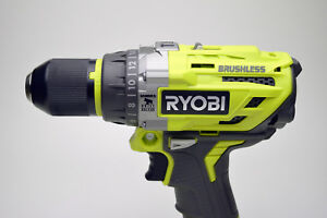 New Ryobi P251 18v One Cordless Brushless 1 2in Hammer Drill Driver tool Only