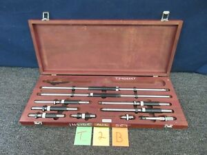 Starrett 128 Inside Tubular Micrometer Set Machinist Tool 2 102 Gauge Gage
