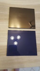 Ultra Blue 2 Pc Gold Lens Set Amazing Clarity Color Large 4 5x 5 25 Sh 10