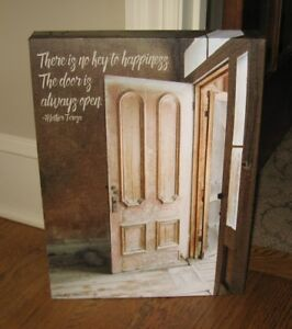 Canvas Happiness Picture Primitive French Country Christian Farmhouse Decor New
