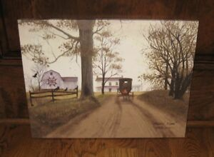 Amish Buggy Home Canvas Picture Primitive French Country Farmhouse Barn Decor