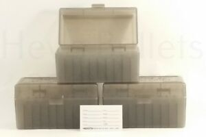 BERRY'S PLASTIC AMMO BOXES (3) SMOKE 50 Round 243  308  More - FREE SHIPPING