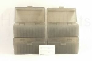BERRY'S PLASTIC AMMO BOXES (4) SMOKE 50 Round 243  308  More - FREE SHIPPING