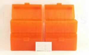 BERRY'S PLASTIC AMMO BOXES (4) ORANGE 50 Round 243  308  More - FREE SHIPPING