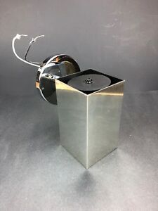 Rare Koch Lowy Chrome Cube Wall Light Sconce Metal Mid Century Vintage