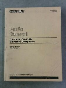Caterpillar Vibratory Compactor Cp 433b Cs 433b Parts Manual T4 236 Perkins Eng