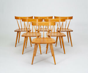 Six Paul Mccobb Planner Group Dining Chairs Mid Century Modern Winchendon Vtg