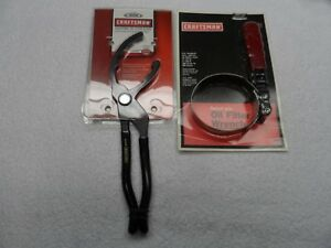 Craftsman Auto Oil Filter Pliers And Wrench 3 1 2 To 3 7 8 Made Usa 2 Pcs