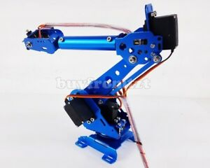 6 Axis Robot Arm Mechanical Robot Arm Free Manipulator With Servos Tzt
