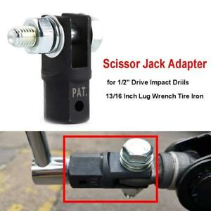 Scissor Jack Adaptor 1 2 For Use With 1 2 Inch Drive Or Impact Wrench Tools