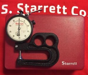 Starrett No 1015a 431 Thickness Dial Indicator 0005 W Case