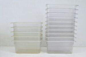 15 1 3 Size Polycarbonate Clear Plastic Steam Prep Table Food Pan 6 Deep