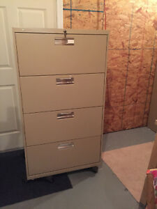 Hon 600 Series Four drawer Lateral File With Lock Keys 30 Wide