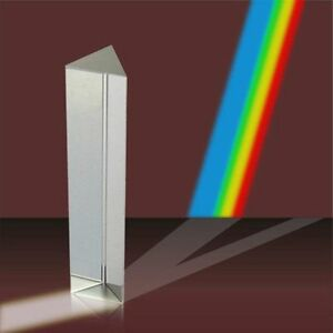 7 8in Optical Glass Triangular Prism Teaching Light Spectrum Physics Bulk 40 Lot