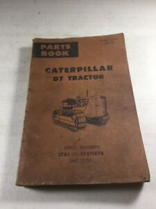 Caterpillar D7 Tractor Parts Book Manual