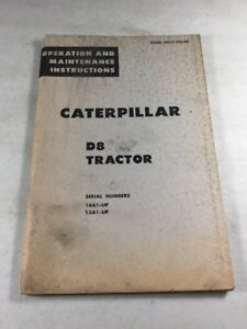 Caterpillar D8 Tractor Operation Maintenance Manual