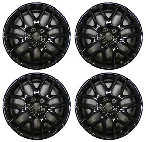 18 Ford Mustang 2012 2013 2014 Factory Oem Rim Wheel 3886 Gloss Black Full Set