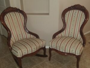 Matching Set Antique Parlor Chairs 1880 1920