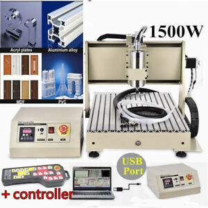 Usb 3 Axis 6040 Cnc Router Engraver 1500w Milling 3d Cutting Machine controller