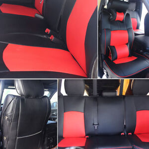 Pu Leather Car Seat Cover For 2009 2018 Dodge Ram 1500 2500 3500 Black