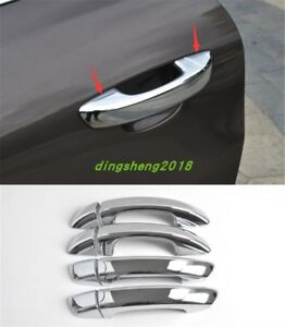 Silver Abs Chrome Side Door Handle Cover Trim For Volkswagen Touareg 2011 2017