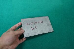 12 5mm Thick Titanium 6al 4v Sheet 492 X 3 93 X 6 4 Grade 5 Plate Metal