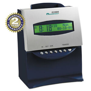 Es1000 Totalizing Digital Automatic Payroll Recorder time Clock Blue And