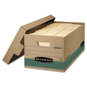 Stor file Storage Box Legal Locking Lift off Lid Kraft green 12 carton