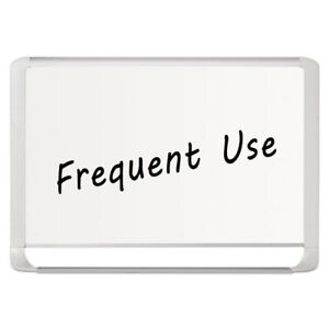 Lacquered Steel Magnetic Dry Erase Board 36 X 48 Silver white