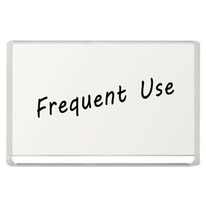 Lacquered Steel Magnetic Dry Erase Board 48 X 72 Silver white
